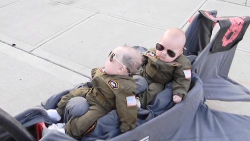 飞行员准备就绪!萌宝要上天喽,爸比:我要累死!