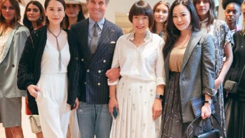 56岁章小蕙现身时装周,一袭纱裙展风韵,同框42岁海清被抢镜