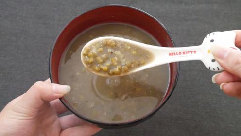 简单一招教您煮绿豆汤,只要10分钟全煮开花了,很多人都煮错了