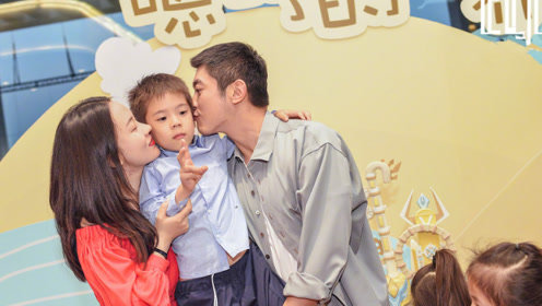 杜江霍思燕为嗯哼庆祝6岁生日,嗯哼跟爸爸长的好像
