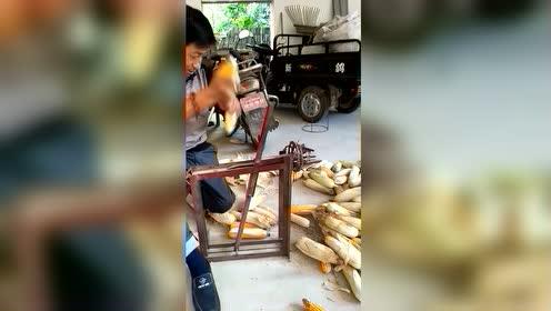 手推式剥玉米皮神器