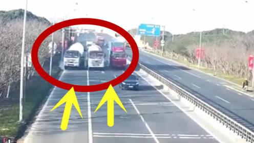 拿生命当儿戏!两罐车司机一言不合就狂飙,三秒后害惨自己!