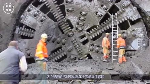 世界上最大的挖掘机,造价5亿专挖隧道,挖穿一座山只需要一天!
