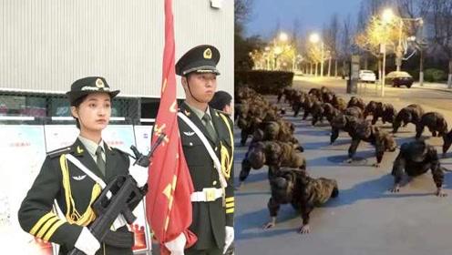 特别神圣!为当校园护旗手,女大学生准备2年:爸爸是退伍兵