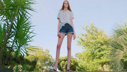 """世界最长腿""""少女"""",16岁腿长1.34米,网友:未来可期!"""