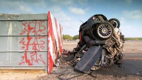 时速193公里的车,碰撞一下会怎样?网友:看完才知道多吓人!