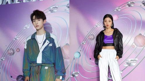 斯凯奇米兰时装周:火箭少女101Yamy与郭俊辰演绎复古主义