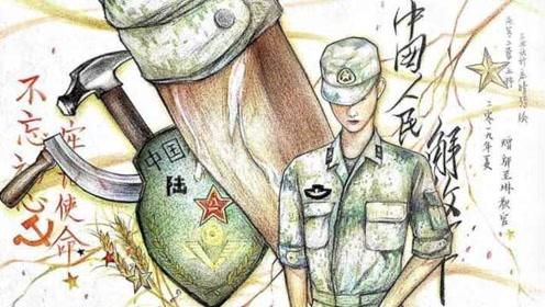 再见了,军训!学生以教官伤疤作画相送:是独属他的荣誉勋章
