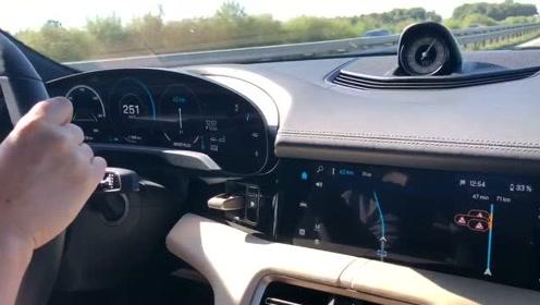 保时捷Taycan在无限速高速上能开多快?
