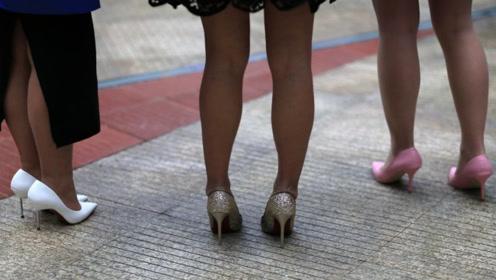 简单的搭配,少用这样配高跟鞋,不然颜值减半,没品味还显矮