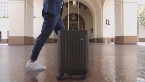 这创意旅行箱,装上专利轮胎,每1次移动都能省钱