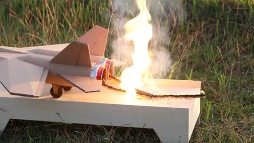 用火柴给纸飞机做动力,看看能飞多远?结局很意外