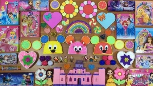 米奇,城堡,芭比公主史莱姆大混合,好玩到爆!