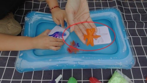 """试玩""""水宝宝""""放在水里3秒就可以成型,好神奇啊!"""