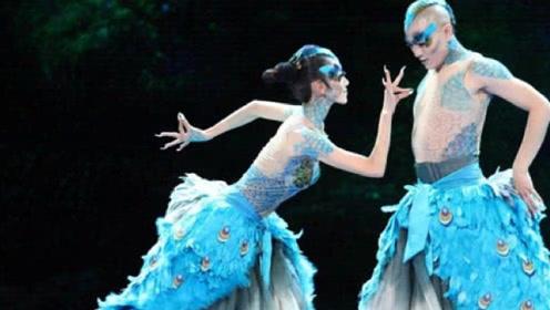 杨丽萍为舞台效果逼真,衣服都是画上去的,效果惊艳让人不敢看!