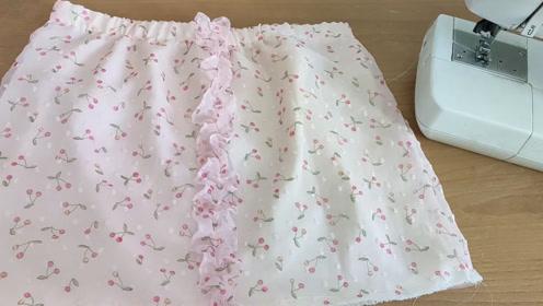 不用制版用最简单的方法做出漂亮的连体裤,比买的好看制作流程1