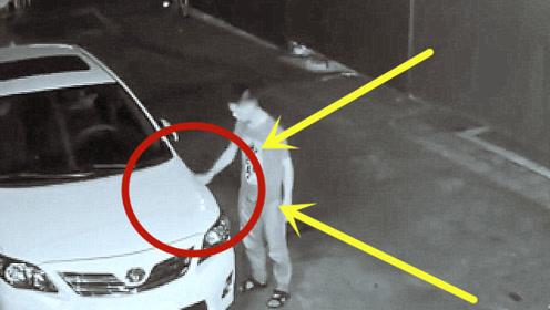 男子报复社会,深夜连划四俩车,被发现后躲在车里不敢下车!