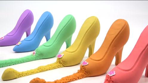 """用彩色黏土做的""""高跟鞋"""",轻轻一拉,破坏的画面比制作还过瘾"""