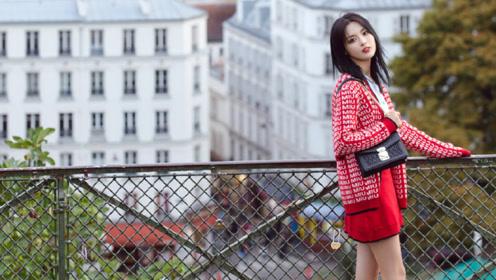 杨超越巴黎时尚大片上线,可盐可甜解锁初秋穿搭