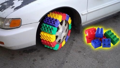 老外用乐高制作汽车轮胎,一脚油门下去,结果出乎你的意料!