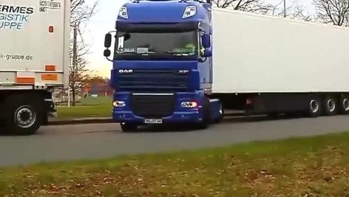 大货车司机行云流水般的倒车操作亮了,网友:不愧是老司机!