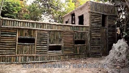 城市房价太贵,农村小哥奇思妙想在山中挖竹子造别墅,成品让人羡慕到哭