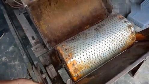 修复一台报废的古董破碎机,技术不错,看到成品我竖起了大拇指