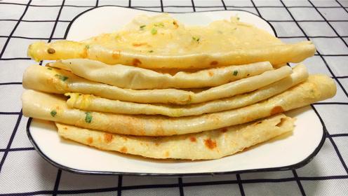 1碗面粉,2个鸡蛋,一种独特的鸡蛋饼做法,皮薄如纸,筋道柔软