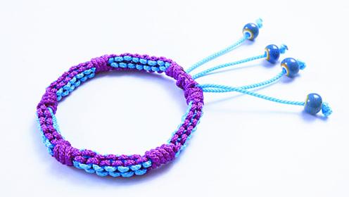 手链编织教程:教你编织一款个性十足的手链,零基础也能学会