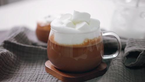 如何在家自制牛奶巧克力饮品?冬天来一杯,整个人都热乎乎的