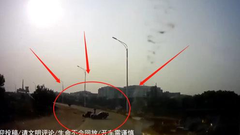 电动车弯道为避让车辆减速导致刹车太猛,车主直接脸着地,这责任怎么算?
