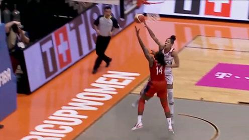 2019女篮美洲杯决赛十佳球单臂钉板大帽空中折叠2+1