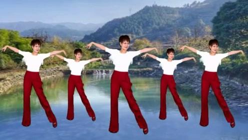 笑春风广场舞《天下最美花舞人间》简单抒情32步教学