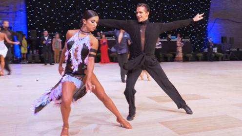 国际锦标赛恰恰赛场,看舞者怎么点燃气氛!~