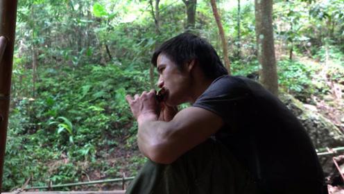 小伙丛林生存,自制陷阱狩猎老鼠,终于有肉吃了
