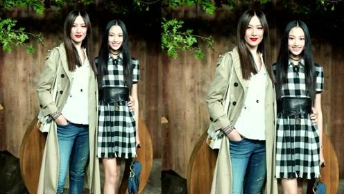 14岁任晴佳穿短裙携妈妈看时装秀,与景甜王丽坤等美女同场竞艳