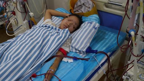 心疼!四川一女孩得尿毒症后被母亲抛弃,女孩网上筹钱治病换肾