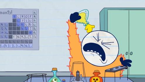 """铅笔人是个天才发明家,实验失败把自己弄成""""黄色"""",这下可真丑"""