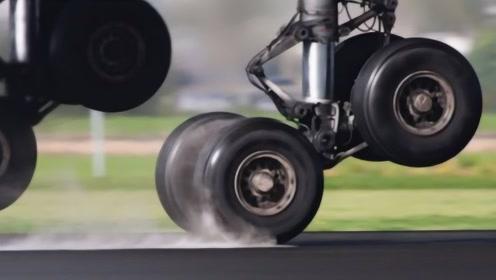 """为什么说飞机轮胎,比""""黄金""""还要贵?看看降落那一刻你就知道了!"""