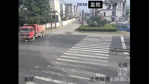 被大货车逼上绝路!他抓住一线生机得以保全性命!