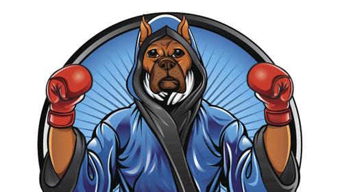 主人怒了,和狗狗进行拳击比赛,就问服不服!