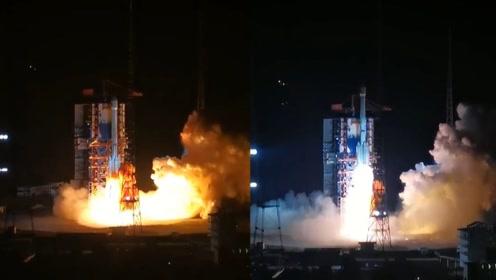 现场!白色火焰点燃深邃夜空:通信技术试验卫星四号成功发射升空!