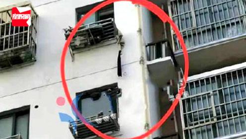 痛心!江苏盐城14岁女孩疑用衣物当绳,滑窗不慎坠楼身亡