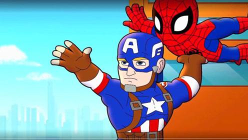 绿魔抢劫了银行,美国队长奈何不了,幸好蜘蛛侠出面