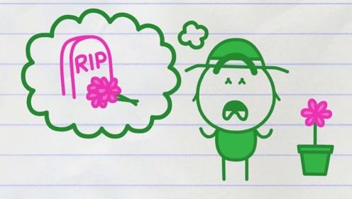 老爷爷给死去老奶奶种花,却被不懂事小丫头捣乱,最后怎么样了?