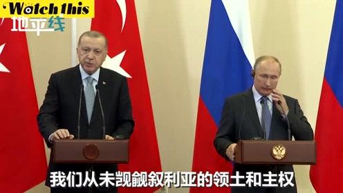 普京与埃尔多安达成协议 再给库尔德武装150小时撤离