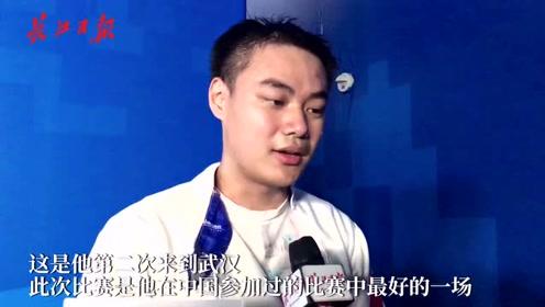 中国击剑男团队员兰明豪:这是我在中国参加的最好的一次比赛