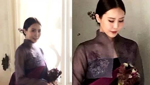 权志龙姐姐出嫁,穿搭高级不输超模