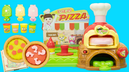 小豆子过家家玩具 会说话的橡皮泥披萨店