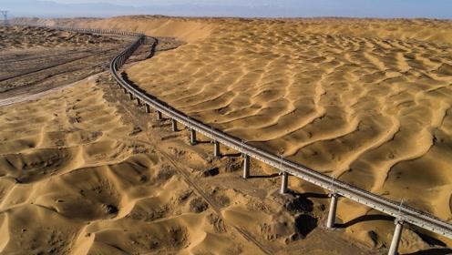 全球第一条沙漠高速铁路,中国耗时多年拿下,比复兴号还快!